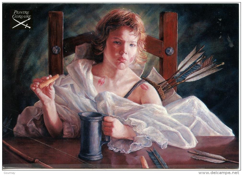 """Alexandre Barbera Ivanoff """"Corsaire Cupidon""""   Huile Sur Toile - Peintre Corsaire - Peintures & Tableaux"""