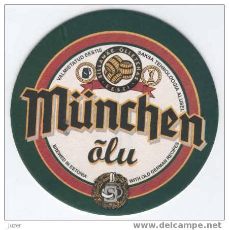 Estonia: SILLAMAE MUNICH Beer Coaster - Sous-bocks