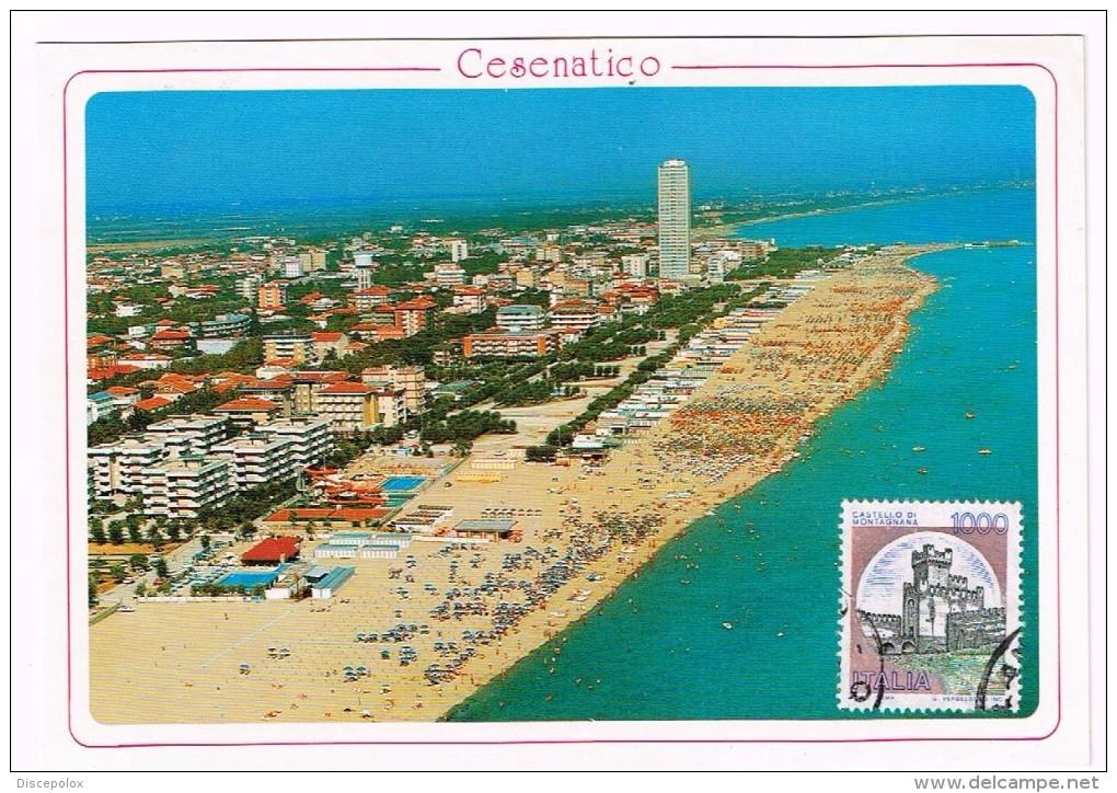H3002 Cesenatico (Forlì Cesena) - Panorama Aereo Della Spiaggia E Alberghi - Vista Aerea Aerial View / Non Viaggiata - Autres Villes