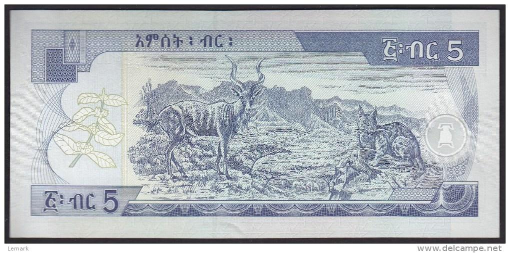 Ethiopia 5 Birr 2006 P47d UNC - Ethiopie