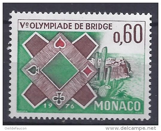 MONACO - Yvert - 1052** - Cote 0,90 € - Ve Olympiade De Bridge De Monte-Carlo - Giochi