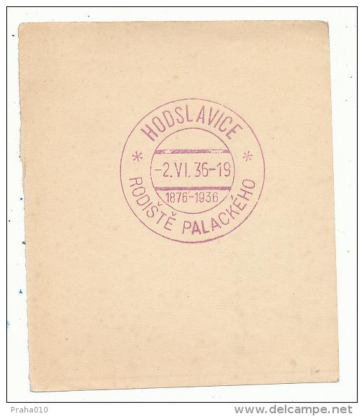 J3875 - Czechoslovakia (1936) Hodslavice: Birthplace Frantisek Palacky (1798-1876) Czech Historian & Politician - History