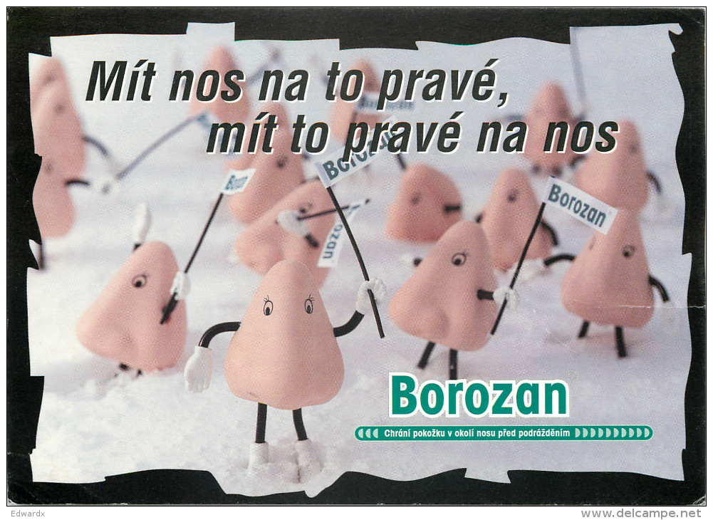 Borozan, Advertising Card, Czech Republic Postcard Posted 2000 Stamp - Czech Republic