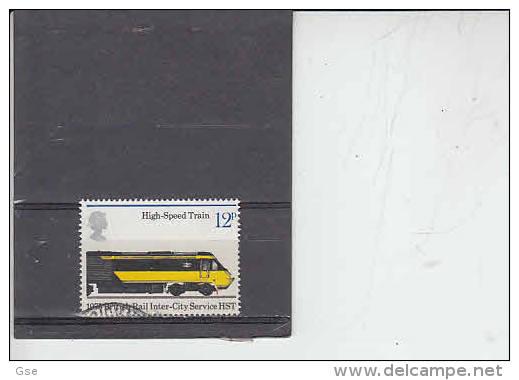 GRAN BRETAGNA   1975 - Unificato  763 - Ferrovie - Usati