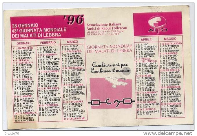 Calendarietto - Aifo 1996 - Calendari