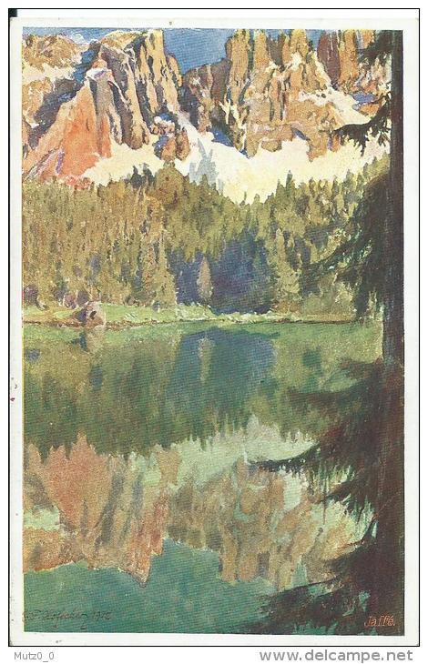 AK 0204  Karersee Mit Dem Latemar - Deutscher Schulverein Um 1912 - Bolzano (Bozen)