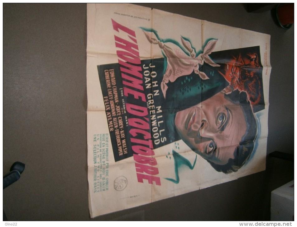 L'homme D'octobre-1947- Avec John MILLS Et Joan GREENWOOD - 1,6/1,25 M. -Imp.R.DELIGNE-ST DENIS-pARIS. - Posters