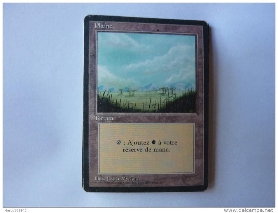 Magic The Gathering Terrain Plaine - Jeux De Société
