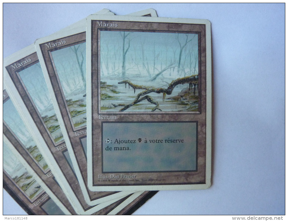 Magic The Gathering Terrain Marais - Jeux De Société