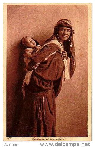 Afrique Du Nord     99    Bédouine Et Son Enfant - Non Classés