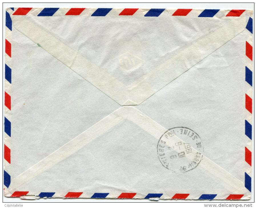 COTE FRANCAISE DES SOMALIS LETTRE RECOMMANDEE PAR AVION DEPART DJIBOUTI 8-6-1967 POUR LA FRANCE - Lettres & Documents