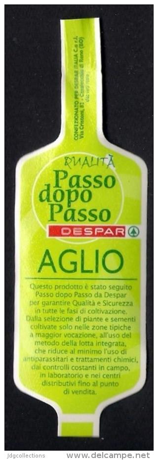 # AGLIO DESPAR Italy Garlic Tag (type 3) Balise Etiqueta Anhänger Cartellino Vegetables Gemüse Legumes Ail  Verduras - Fruits & Vegetables