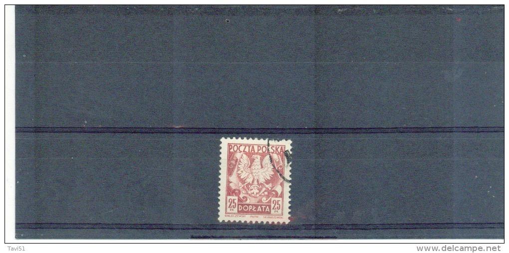 POLEN , Poland , 1950 , Oo , Used , Gestempelt , Mi.Nr. Portomarke 118 - Impuestos