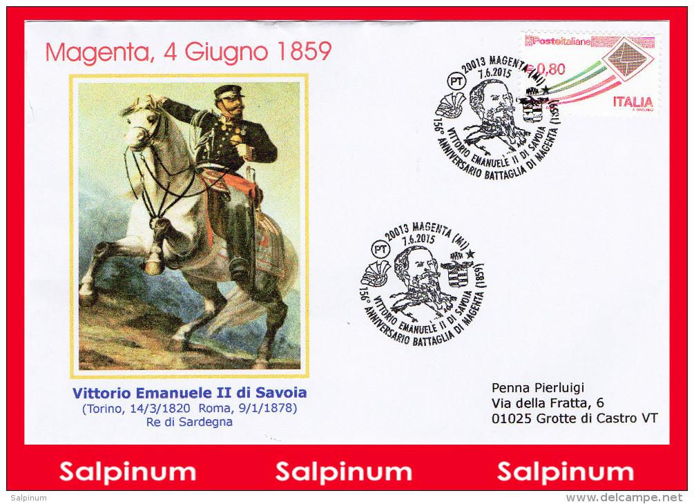 ANNULLO ANNIVERSARIO 156° BATTAGLIA MAGENTA - 6. 1946-.. Repubblica