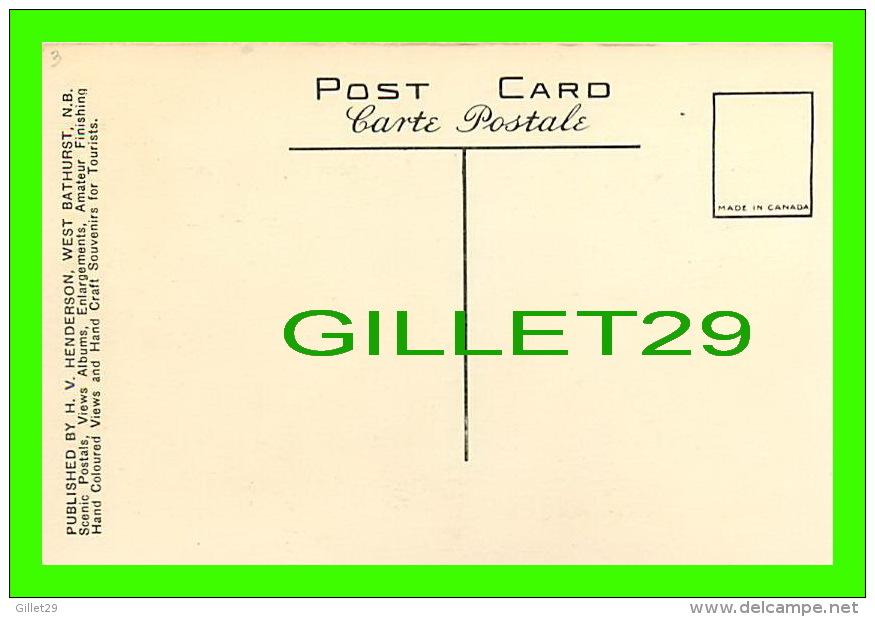 GASPÉ, QUÉBEC - A TRAVERS LE PORTAGE MADELEINE SUR LE CHEMIN DE GASPÉ - M. P. - PUB. BY H. V. HENDERSON - - Gaspé