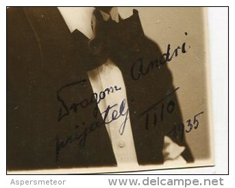 "AUTOGRAFO DÉDICACÉ AUTOGRAPHED ""TITO"" ACTOR-ACTEUR ORIGINAL SIGNATURE EXCLUSIVE NON CIRCULEE GECKO - Autographes"