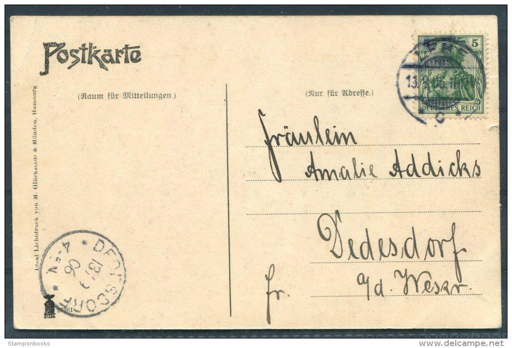 1906 Kriegsschiff Unsere Marine Postkarte Dedesdorf - Warships