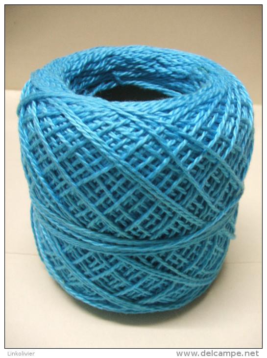 PELOTE Fil Bleu Turquoise COTON 3S - Wool