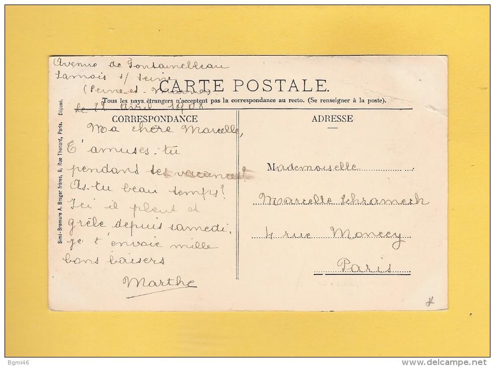 * CPA..dépt 77..SAMOIS Sur SEINE  :   Le Châlet Des Peupliers   : Voir Les 2 Scans - Samois