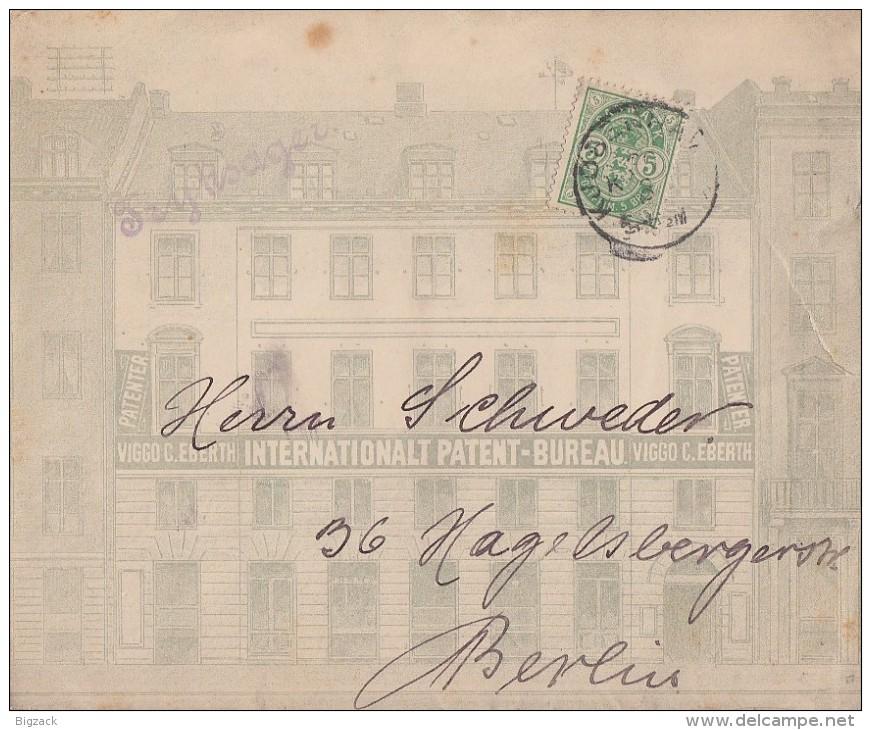 Dänemark Werbebrief Int. Patent-Bureau Gel. Nach Berlin Ansehen !!!!!!!!!!! - 1864-04 (Christian IX)