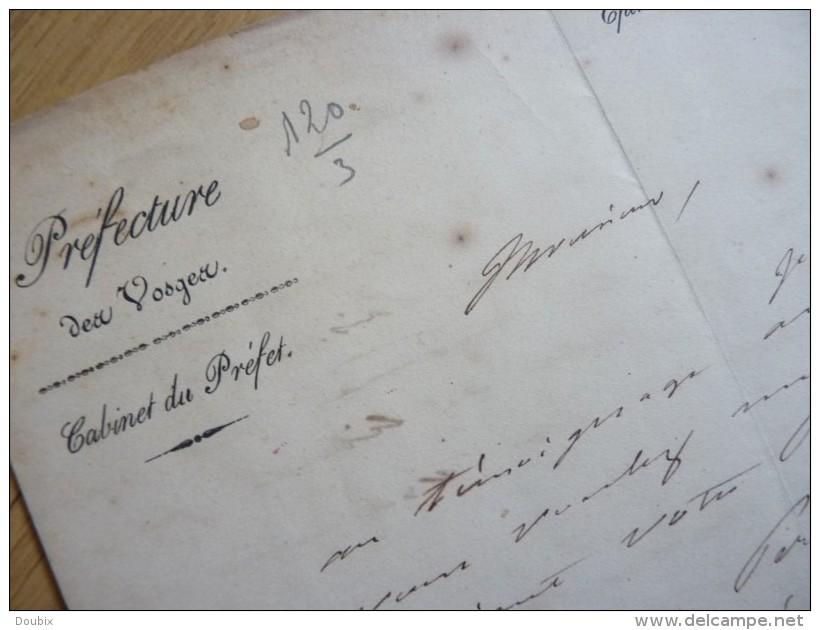 Nicolas ROUGIER De La BERGERIE (1784-1857) Prefet VOSGES (Epinal) , Lot Et Garonne - AUTOGRAPHE - Autógrafos