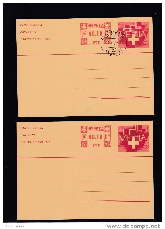 Schweiz Ganzsache MiNr. P240 Im Set: Postfrisch + Gestemp. - Ganzsachen
