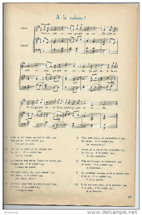 Livre Chansons Enfantines - Chant Chorale