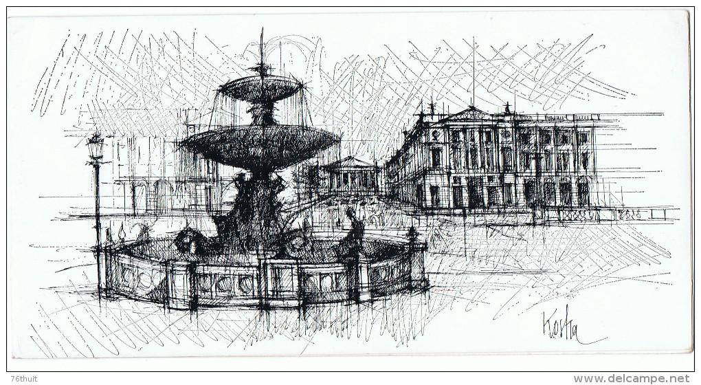 PEC - Potasse Engrais Chimique - Gd-Couronne - KOSHA - Carte Voeux -Place De La Madeleine Et Concorde - Ed. Dia - H.37 - - New Year