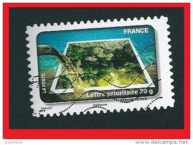 N° 411  Fête Du Timbre 2010 - Protégeons L´eauAlgues Vertes France Oblitéré - France