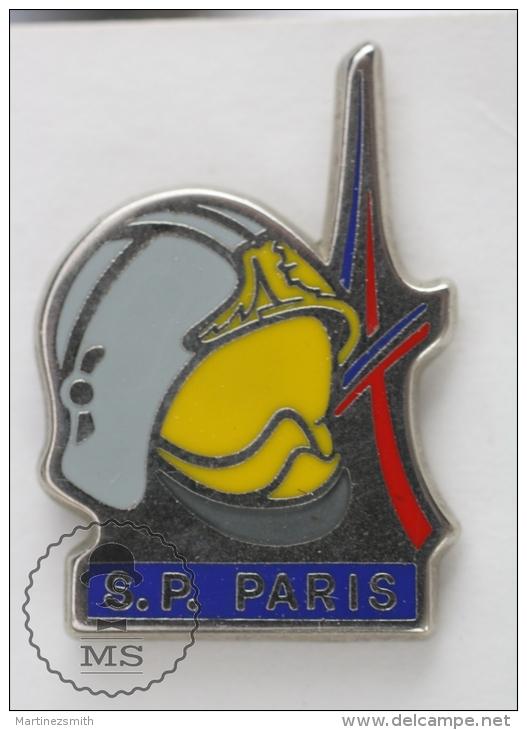 Sapeurs Pompiers Paris - Fireman Firefighter - Signed AMC - Pin Badge #PLS - Bomberos