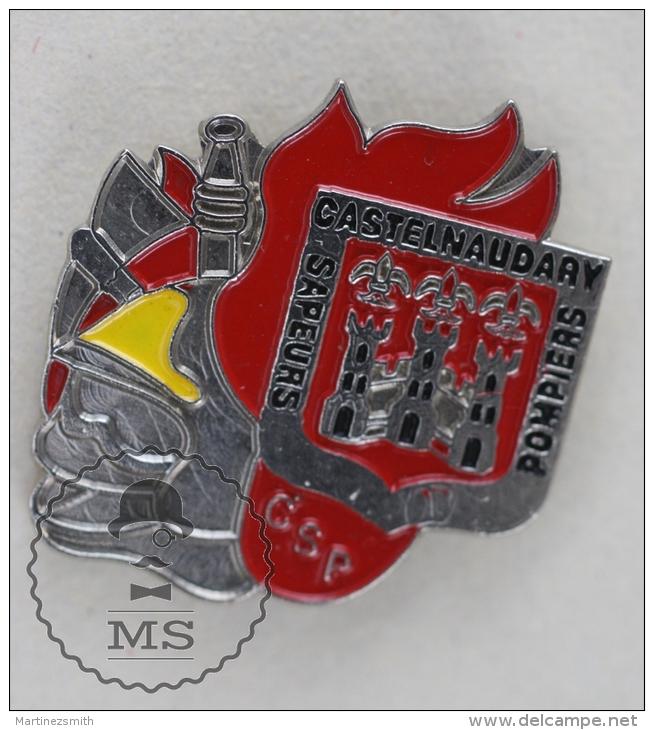 Sapeurs Pompiers / Fireman Firefighter - France,  Castelnaudary  - Pin Badge #PLS - Bomberos