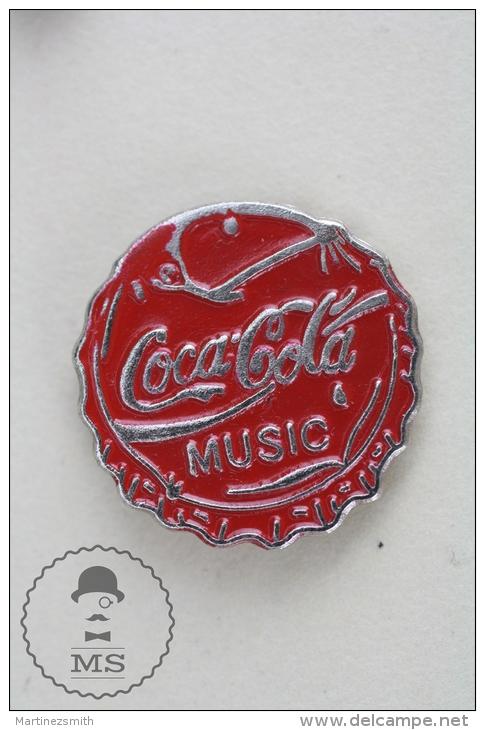 Coca Cola Music - Advertising Pin Badge #PLS - Coca-Cola