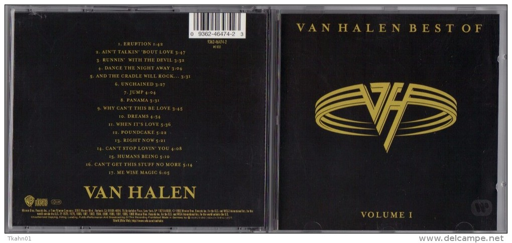 """ALBUM  C-D  VAN HALEN  """" BEST OF VOLUME I  """" - Hard Rock & Metal"""