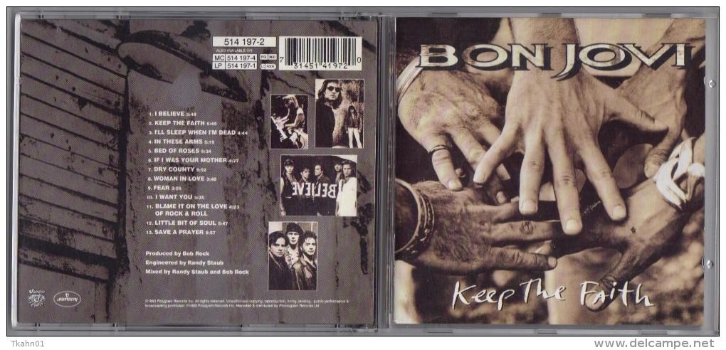 "ALBUM  C-D  BONJOVI  "" KEEP THE FAITH  ""  DE  1992 - Hard Rock & Metal"
