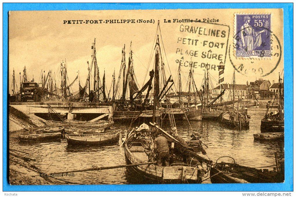 LIPP908, Petit Fort Philippe, La Flottile De Pêche, Port, Animée, Circulée - Altri Comuni