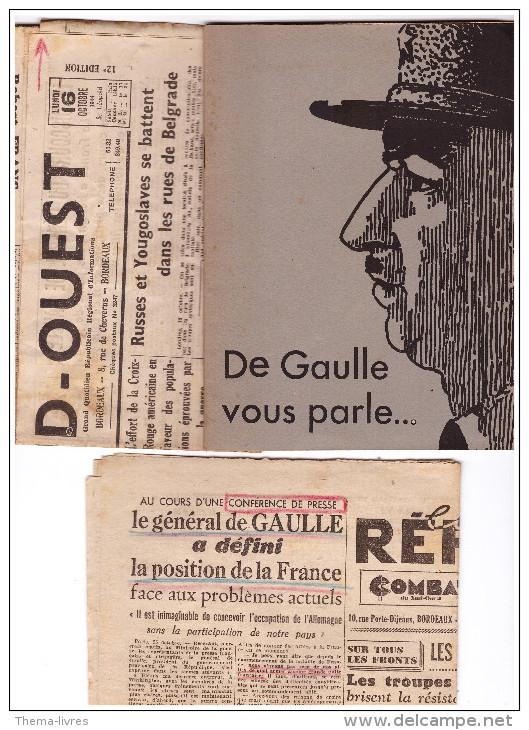 """Plaquette: """"de Gaulle Vous Parle"""" (F.2171) - Documents Historiques"""