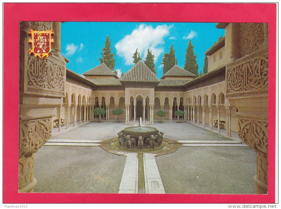 Lions Court,Alhambra,Granada, Posted With Stamp, L26. - Spain