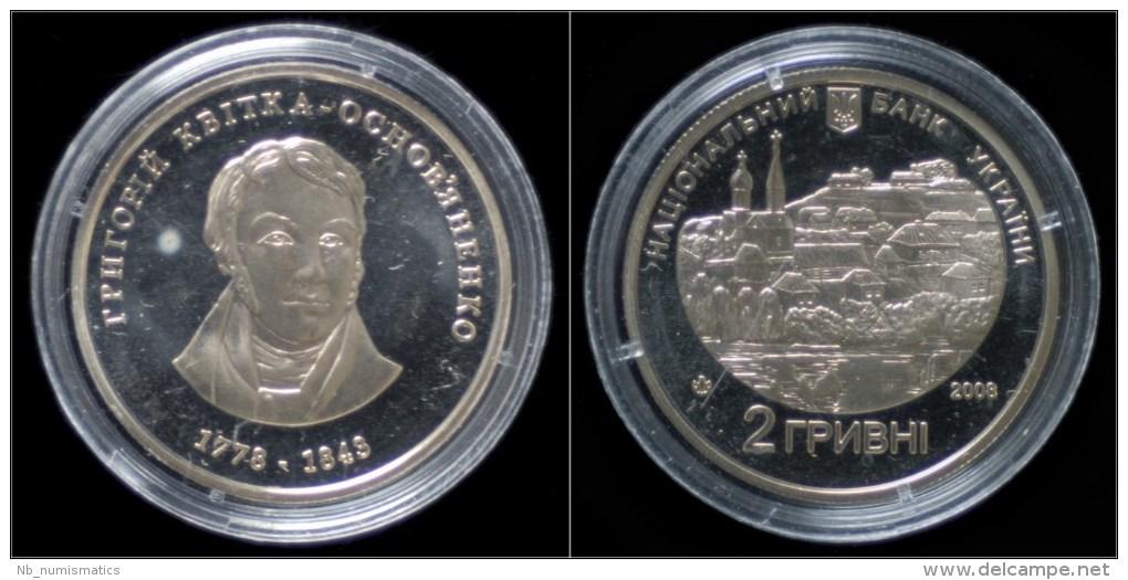 Ukraine 2 Hriwen 2008- Commemorative Coin- H.Kvitka - Ukraine