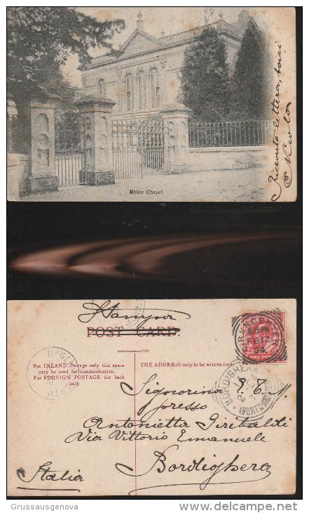1449) Gloucestershire TIMBRO POSTALE CIRENCESTER EBLEY CHAPEL VIAGGIATA 1904 - Non Classificati