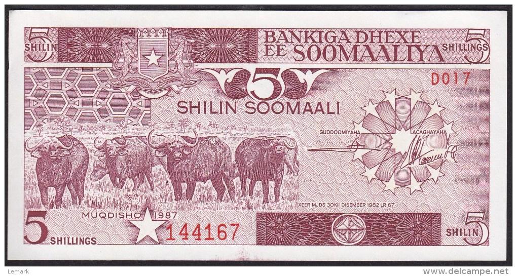 Somalia 5 Shillings 1987 P31c UNC - Somalie