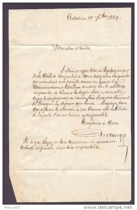 CHARENTE 16 AUBETERRE SUR DRONNE LAC Tad 16 Du 10/12/1869 GC 203  Sur N° 59  SUP Ind5 - Marcophilie (Lettres)