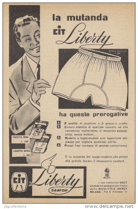 # MAGLIERIA CIT LIBERTY 1950s Advert Pubblicità Publicitè Reklame Underclothes Lingerie Ropa Intima Unterkleidung - Signore