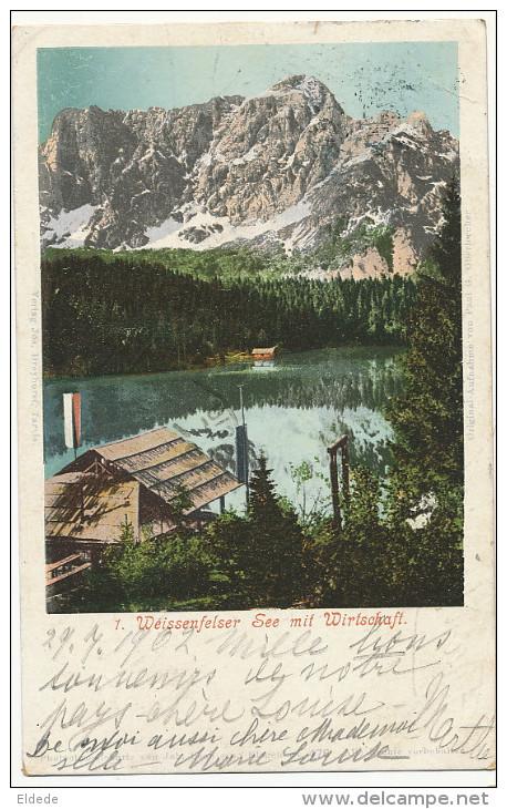 Tarvis Tervisio 1 Weissenfelser See Mit Wirtschaft 1902 - Italia