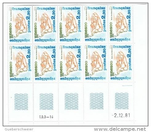 FR/SER 3 - FRANCE Service N° 68/70 Neufs** En Blocs De 10 Coins Datés - Ungebraucht