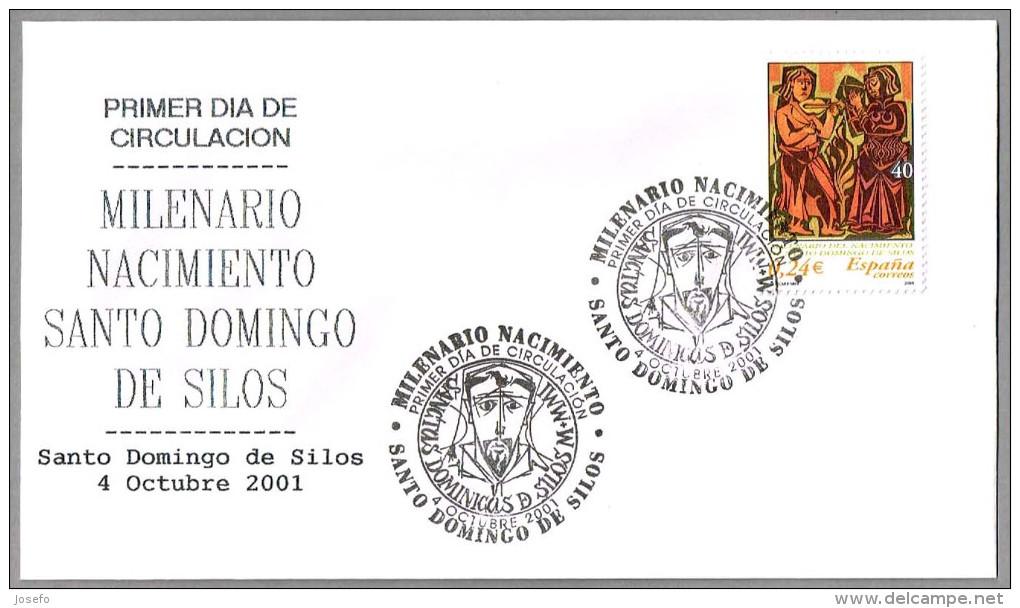 MILENARIO NACIMIENTO SANTO DOMINGO DE SILOS. SPD/FDC Sto D. De Silos 2001. Burgos - Cristianismo