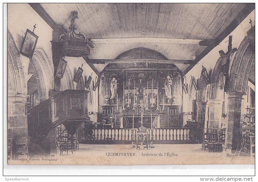 24396  Quemperven Intérieur De L´ église ... édition Hamon Guingamp - Non Classés