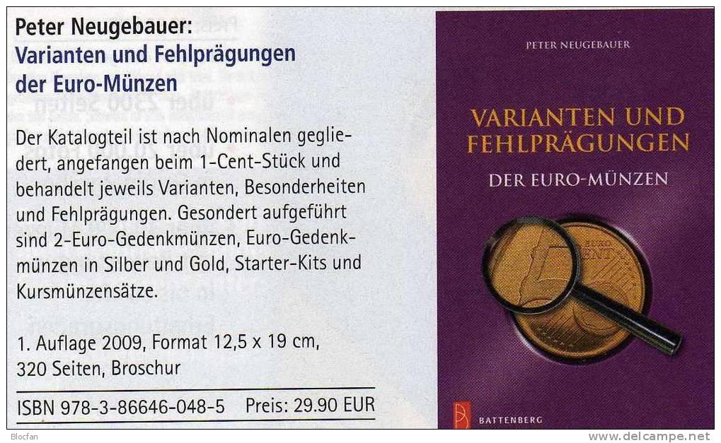 Variante Euromünzen Fehlprägungen Catalogue 2009 New 30€ Abarten Verprägungen Kurs-/Gedenk-Münzen Germany + Euro-Country - Dutch