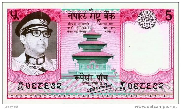 NEPAL 1985 Rupees-5 BANKNOTE King BIRENDRA Pick #23c UNC - Nepal