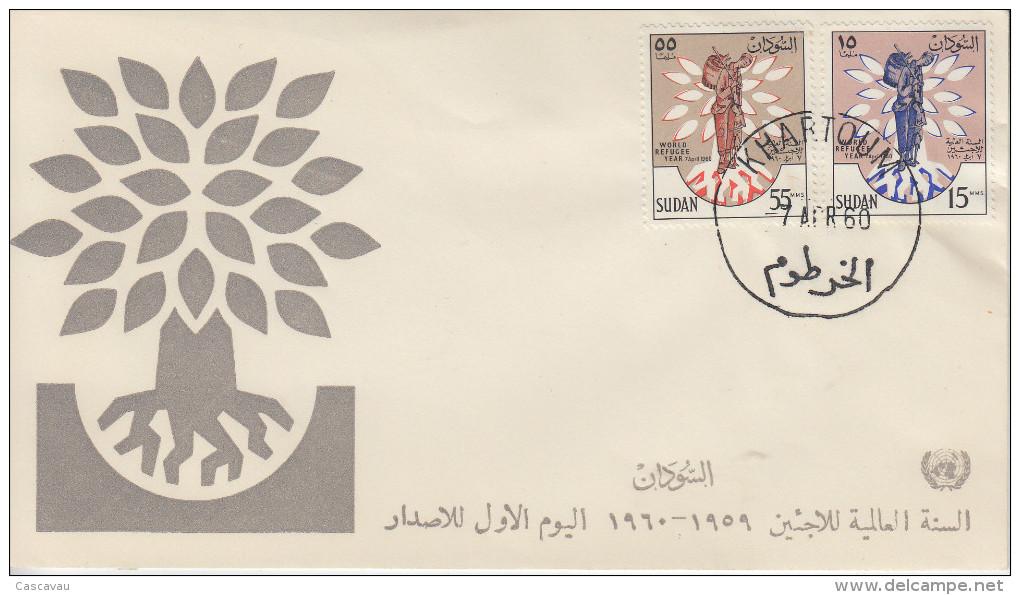 Enveloppe   1er  Jour    SOUDAN    Année  Mondiale  Du   Réfugié  1960 - Soudan (1954-...)