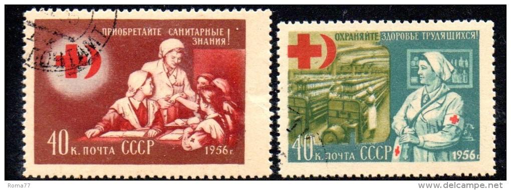 W2749 - RUSSIA 1956 , Serie N. 1808/1809  Nuova/usata - Croce Rossa